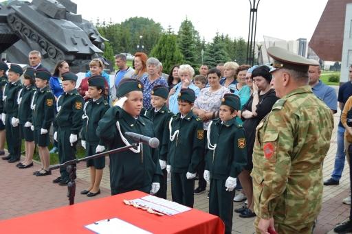 12 июня 2021 года, в День России пополнились дружные ряды кадетов Прохоровского района